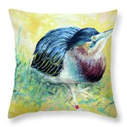 Little Night Heron Throw Pillow