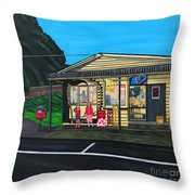 Little Oneroa Store Throw Pillow
