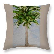 Little Palm Tree Throw Pillow
