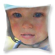 Little Pilgrim Myles Alden At 1yo Throw Pillow