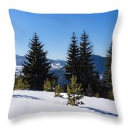 Little Pine Forest - Impressions Of Mountains Throw Pillow