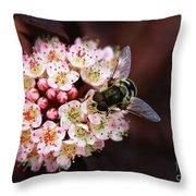 Little Pink Flowers Throw Pillow