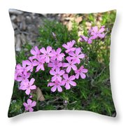 Little Pink Flowers Throw Pillow