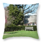 Little Pink House Throw Pillow