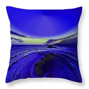 Little Planet Blue Throw Pillow