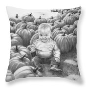 Little Pumpkin Throw Pillow