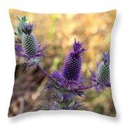 Little Purple Pineapples Throw Pillow