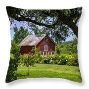 Little Red Barn Throw Pillow