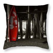 Little Red Boat IIi Throw Pillow