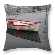 Little Red Boat Throw Pillow