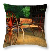 Little Red Buggy Throw Pillow