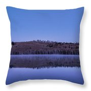 Little Red Fish Lake Throw Pillow