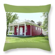 Little Red Schoolhouse, Council Grove Throw Pillow