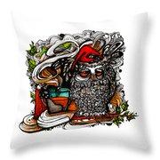 Little Red Sleepy Hood Throw Pillow