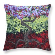 Little Red Tree 2 Throw Pillow