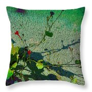 Little Red Trumpets Throw Pillow