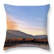 Little River In The Fall 2 Throw Pillow