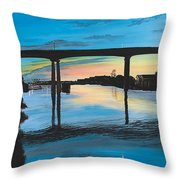 Little River Waterfront Throw Pillow
