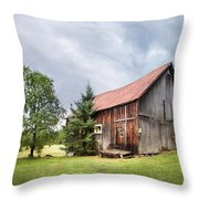 Little Rustic Barn, Adirondacks Throw Pillow by Gary Heller