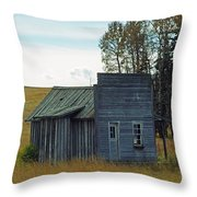 Little Rustic Shack Throw Pillow