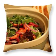 Little Salad Little Wine Throw Pillow