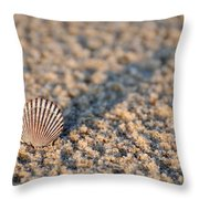 Little Seashell - Jersey Shore Throw Pillow