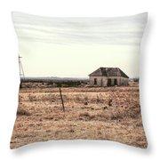Little Shack On The Prairie Throw Pillow