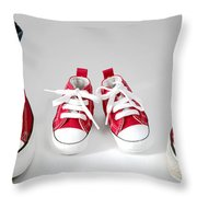 Little Shoes Throw Pillow