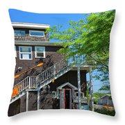 Little Shop In Gloucester Throw Pillow
