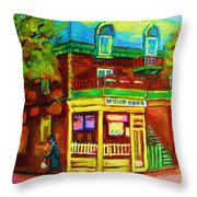 Little Shop On The Corner Throw Pillow