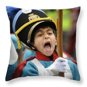 Little Soldier V Throw Pillow
