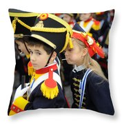 Little Soldiers II Throw Pillow