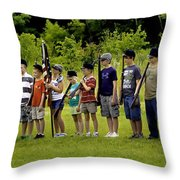 Little Soldiers Throw Pillow