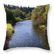 Little Spokane River Throw Pillow