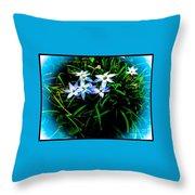 Little Star Wind Flowers Throw Pillow