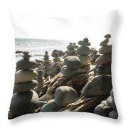 Little Stone Sculptures Throw Pillow