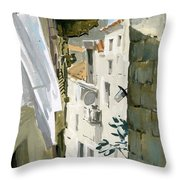 Little Street In Dubrovnik Throw Pillow