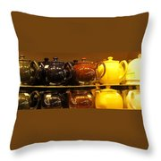 Little Teapots Throw Pillow