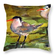 Little Terns Throw Pillow
