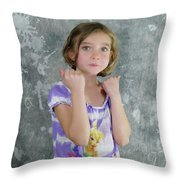 Little Tomboy  Throw Pillow