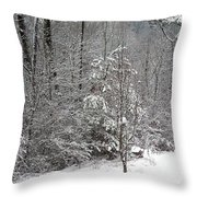 Little Tree Big Snow Throw Pillow
