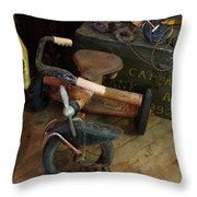 Little Trike Many Miles Throw Pillow