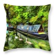 Little Venice London Art Throw Pillow