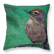 Little Warbler Throw Pillow