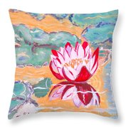 Little Water Lilly  Throw Pillow