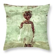 Little Wave-watcher Throw Pillow