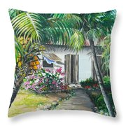 Little West Indian House 2...sold Throw Pillow