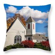 Little White Church Throw Pillow