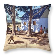 Little White House Karoo South Africa Throw Pillow
