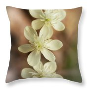 Little White Wildflowers  Throw Pillow